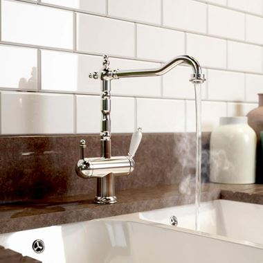 Vellamo Traditional Instant Hot & Cold Boiling Water Tap with WRAS Approved Boiler Unit & Filter