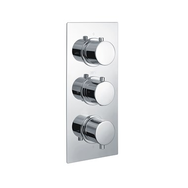 Vellamo Twist 2 Outlet WRAS Approved Concealed Thermostatic Shower Valve