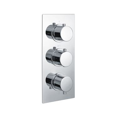 Vellamo Twist 2 Outlet Concealed Thermostatic Shower Valve - Chrome