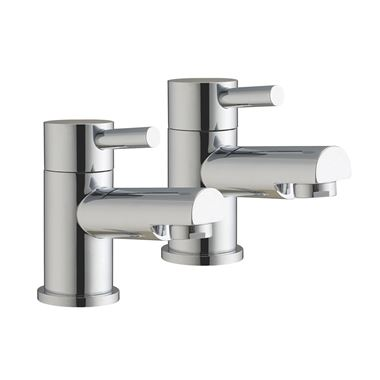 Vellamo Twist Bath Pillar Taps
