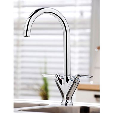 Vellamo Twist Kitchen Sink Mixer Tap - Polished Chrome