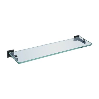 Vellamo Twist Matt Black Glass Shelf