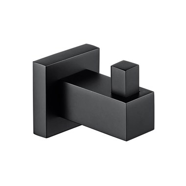 Vellamo Twist Matt Black Robe Hook