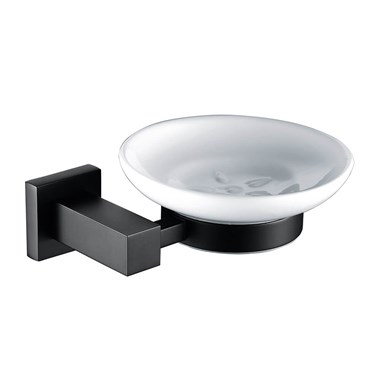 Vellamo Twist Matt Black Soap Dish