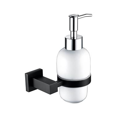 Vellamo Twist Matt Black Soap Dispenser