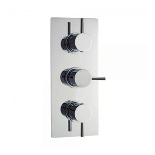 Vellamo Twist Triple Control Concealed Thermostatic Shower Valve with 2-Way Diverter