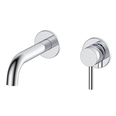 Vellamo Twist Wall Mounted Basin Mixer with Easy Plumb Installation Kit
