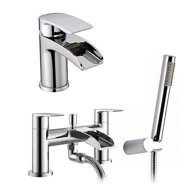 Vellamo Venta Basin Mixer & Bath Shower Mixer Pack