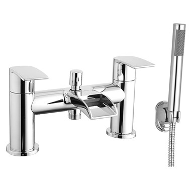 Vellamo Venta Waterfall Bath Shower Mixer with Shower Kit