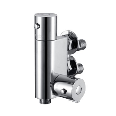 Vellamo Vertical Thermostatic Bar Valve