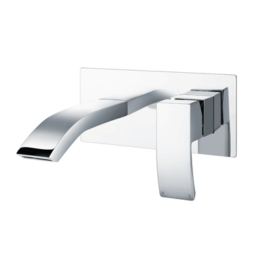 Vellamo City Wall Mounted Basin Mixer - Chrome