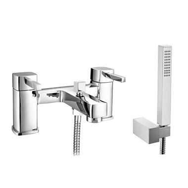 Vellamo Quadro Bath Shower Mixer with Shower Attachment