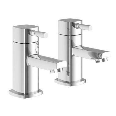 Vellamo Quadro Basin Pillar Taps
