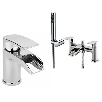 Vellmo Venta Basin Mixer & Bath Shower Mixer Pack