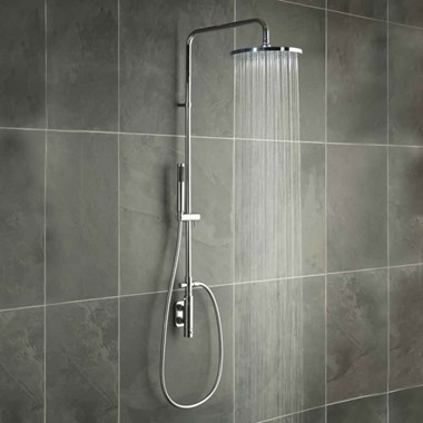 Vado Vertix Thermostatic Valve with Rigid Riser Shower Kit