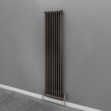 Butler & Rose 2 Column Vertical Radiator - Bare Metal Lacquer Finish - 1800mm