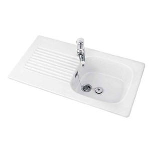 Villeroy & Boch Ravel Ceramic Single Bowl Sink with Reversible Drainer - 920 x 510mm
