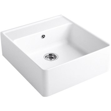 Villeroy & Boch Butler 60 White Ceramic Plus Single Bowl Belfast Sink With Tap Ledge