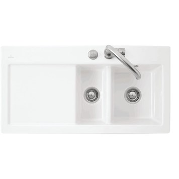 Villeroy & Boch Subway 60XR Alpine White Ceramic 1.5 Bowl Sink
