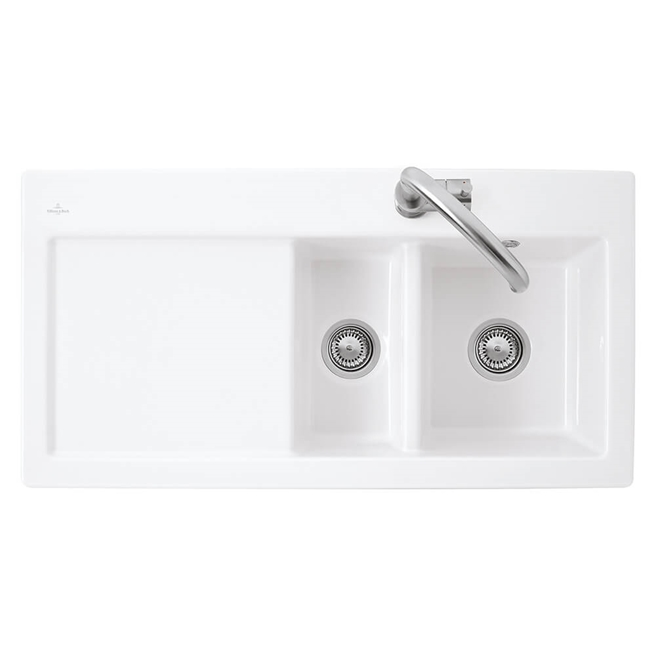 Villeroy & Boch Subway 60XR Alpine White Ceramic 1.5 Bowl Kitchen Sink - 1000 x 510mm