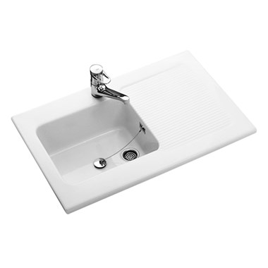 Villeroy & Boch Provence White Ceramic Single Bowl Sink with Reversible Drainer - 1000 x 600mm