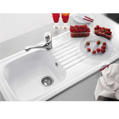Villeroy & Boch Medici Ceramic Single Bowl Sink & Drainer - Reversible