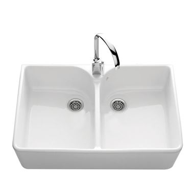 Villeroy & Boch Farmhouse 80 White Ceramic Double Bowl Belfast Sink