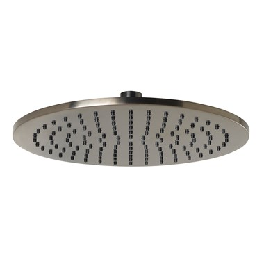 VOS Round 250mm Overhead Shower - Brushed Black