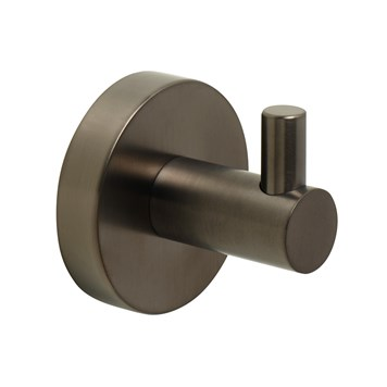 VOS Single Robe Hook - Brushed Black