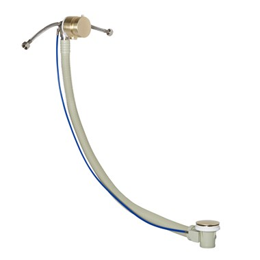 VOS Overflow Bath Filler with Click Clack Waste - Brushed Brass