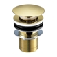 VOS Slotted Basin Click Clack Waste - Brushed Brass