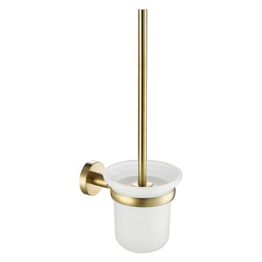 VOS Toilet Brush Holder - Brushed Brass