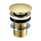 VOS Unslotted Basin Click Clack Waste - Brushed Brass