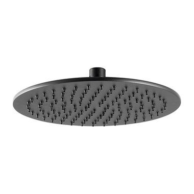 VOS Round Shower Head - Matt Black