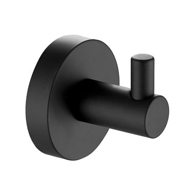 VOS Single Robe Hook - Matt Black