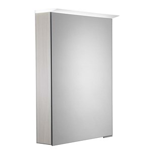 Roper Rhodes Virtue LED Illuminated Mirror Cabinet with Shaver Socket - Alpine Elm