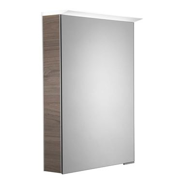 Roper Rhodes Virtue LED Illuminated Mirror Cabinet with Shaver Socket - Dark Elm