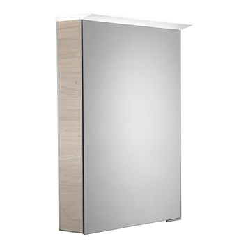 Roper Rhodes Virtue LED Illuminated Mirror Cabinet with Shaver Socket - Light Elm