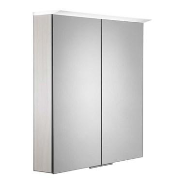 Roper Rhodes Visage LED Illuminated Mirror Cabinet with Shaver Socket - Alpine Elm