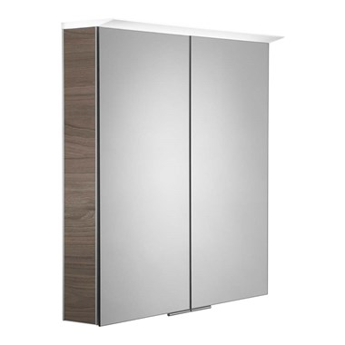 Roper Rhodes Visage LED Illuminated Mirror Cabinet with Shaver Socket - Dark Elm
