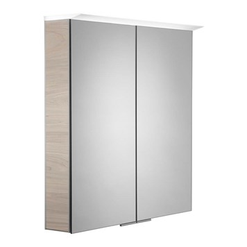 Roper Rhodes Visage LED Illuminated Mirror Cabinet with Shaver Socket - Light Elm