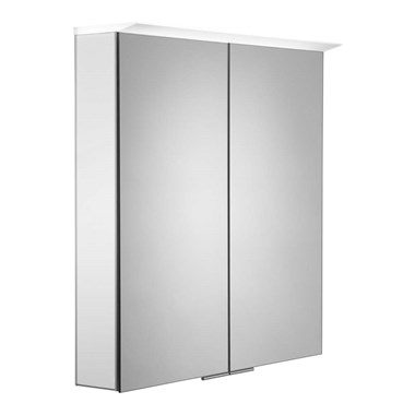 Roper Rhodes Visage LED Illuminated Mirror Cabinet with Shaver Socket - Gloss White