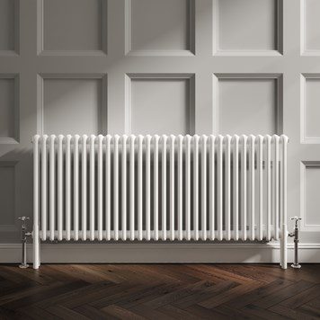 Butler & Rose Horizontal Designer 2 Column Style White Radiator - 600 x 1460mm