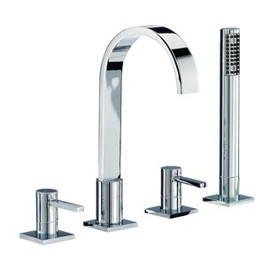 Mayfair Wave 4 Hole Bath Shower Mixer Set
