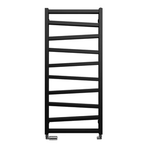 Bauhaus Wedge Towel Rail in Metallic Black Matte - 500 x 1096mm