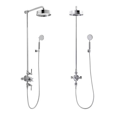 "Crosswater Waldorf Thermostatic Shower Valve With 12"" Fixed Head and Shower Handset"