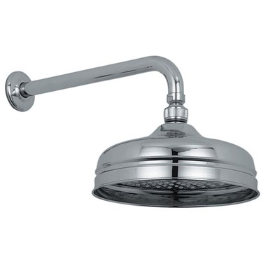 Vado Traditional Fixed Shower Head & Arm 200mm