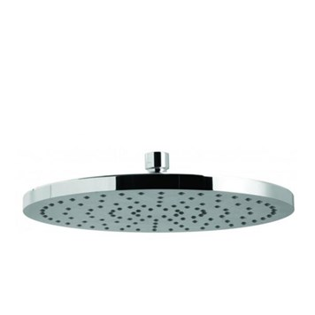 "Vado Saturn Single Function Round Fixed Shower Head 220mm (9"")"