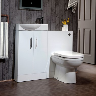 Compact Two Door Furniture Suite incl. Back to Wall Toilet & Cistern