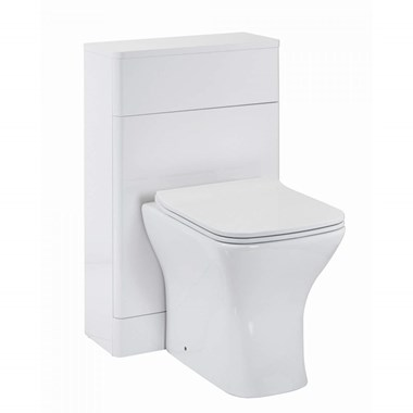 Harbour Identity 500mm Back to Wall Toilet Unit - Gloss White